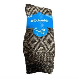 NWT Columbia Super Soft Crew Socks 2 Pairs